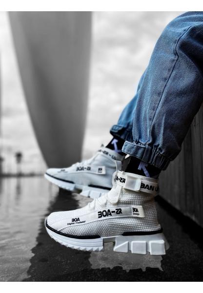 KUASAR- X Erkek Tarz Yüksek Taban Tarz Beyaz Renk Spor Ayakkabı