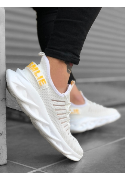 AHN0602 Phantom Yüksek Taban Tarz Sneakers Beyaz Erkek Spor Ayakkabısı