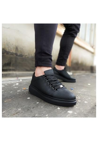 Wagoon WG08 Kömür Düz Erkek Casual Ayakkabı