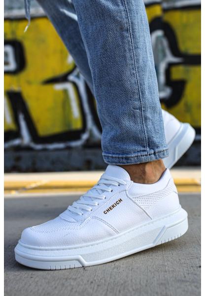 AHN075 İpekyol Beyaz Taban Erkek Ayakkabı BEYAZ