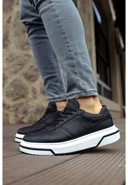 AHN075 İpekyol Beyaz Taban Erkek Ayakkabı SIYAH