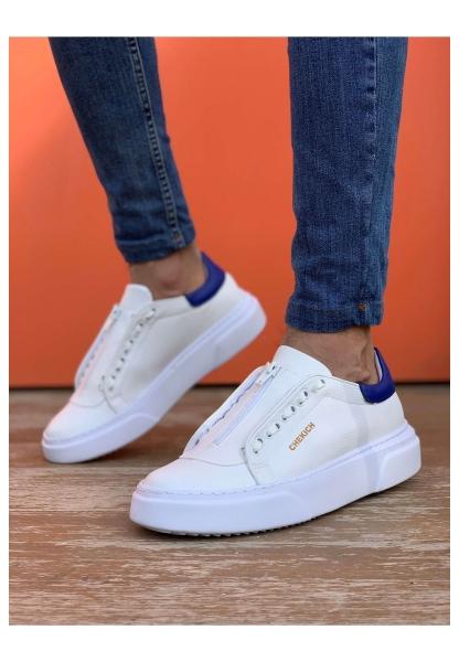 AHN092 GBT Erkek Ayakkabı BEYAZ / MAVİ