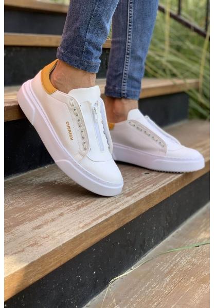 AHN092 GBT Erkek Ayakkabı BEYAZ / SARI