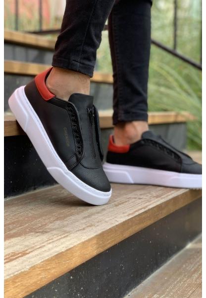 AHN092 GBT Erkek Ayakkabı SİYAH / KIRMIZI