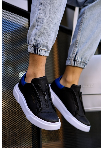 AHN092 GBT Erkek Ayakkabı SİYAH / MAVİ