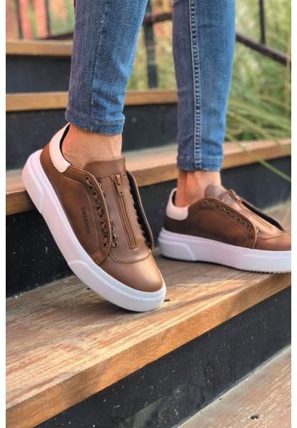 AHN092 GBT Erkek Ayakkabı TABA / BEYAZ