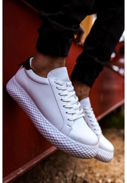 AHN107 GBT Erkek Ayakkabı BEYAZ / HAKİ