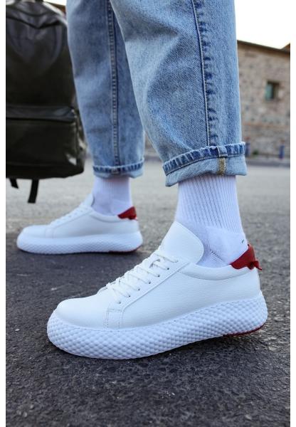 AHN107 GBT Erkek Ayakkabı BEYAZ / KIRMIZI
