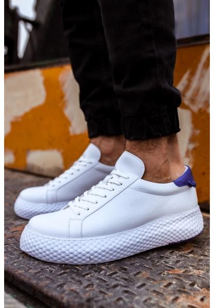 AHN107 GBT Erkek Ayakkabı BEYAZ / SAX MAVİ