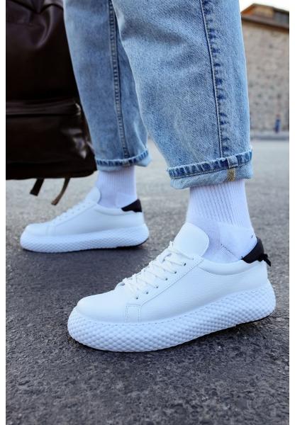 AHN107 GBT Erkek Ayakkabı BEYAZ / SİYAH