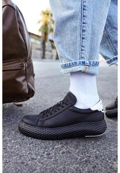 AHN107 GST Erkek Ayakkabı SİYAH / BEYAZ