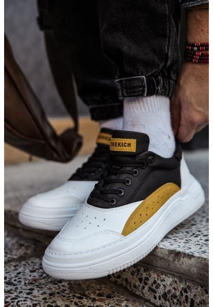 AHN115 BT Erkek Ayakkabı BEYAZ/SARI/SİYAH