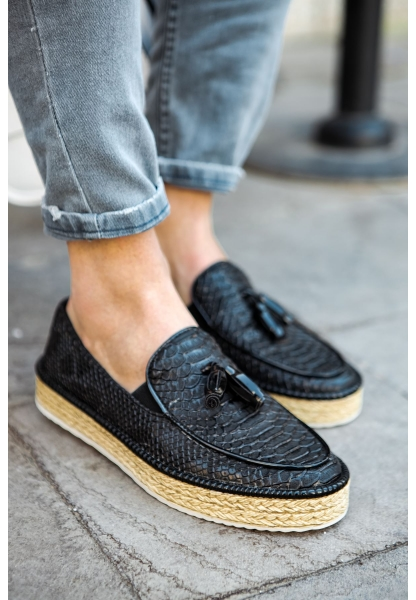 AHN119 Croco BT Erkek Ayakkabı SIYAH