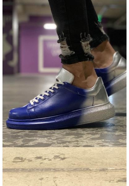 AHN254 BT Erkek Ayakkabı 412 MAVİ / GÜMÜŞ
