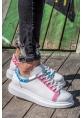 AHN254 BT Erkek Ayakkabı 420 MAVİ-PEMBE İSLEME