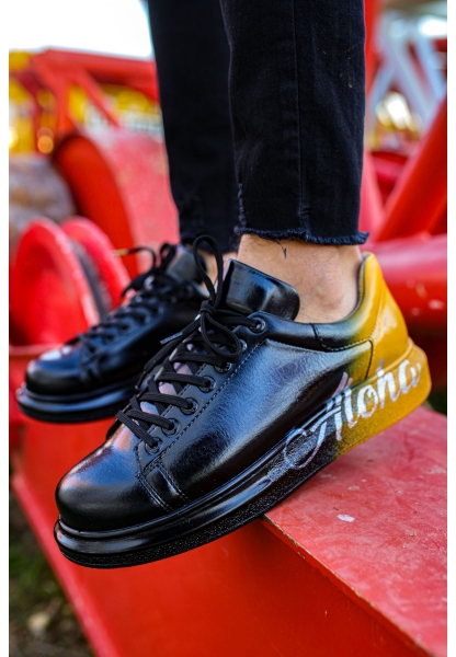 AHN254 BT Erkek Ayakkabı 476 SİYAH / SARI ALOHA