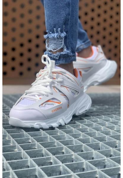 AHN301 BT Erkek Ayakkabı BEYAZ - TURUNCU