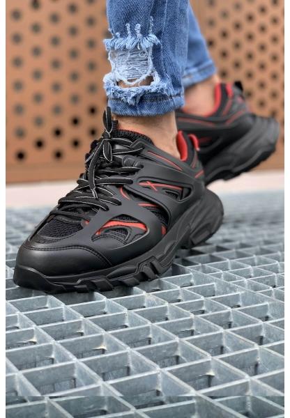 AHN301 ST Erkek Ayakkabı SİYAH - KIRMIZI