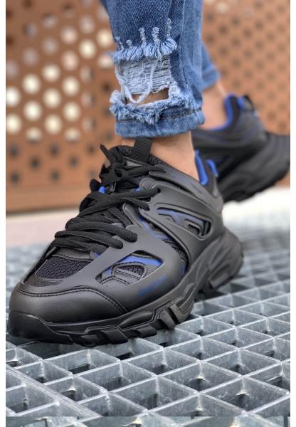 AHN301 ST Erkek Ayakkabı SİYAH - MAVİ