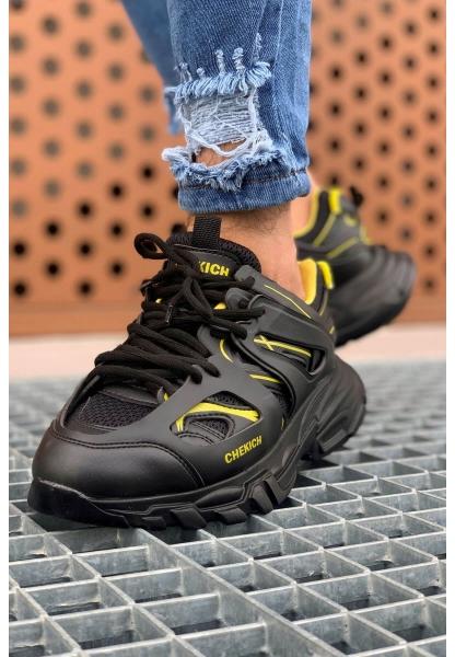 AHN301 ST Erkek Ayakkabı SİYAH - SARI
