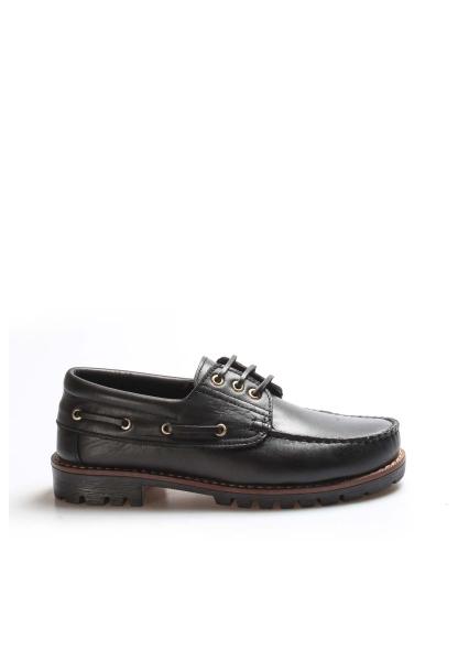 My Fiero Hakiki Deri Siyah Erkek Loafer Ayakkabı