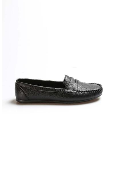 My Fiero Siyah Kadın Babet Ayakkabı