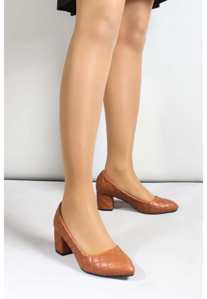 My Fiero Taba Kadın Kısa Topuklu Ayakkabı
