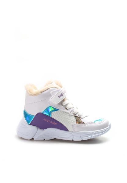 Ayakkabıhane Beyaz Turkuaz Lila Unisex Çocuk Spor Bot AH868SPXCA053