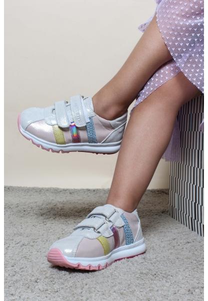 Ayakkabıhane Hakiki Deri Gümüş Pembe Erkek Çocuk Casual Ayakkabı AH006PA800