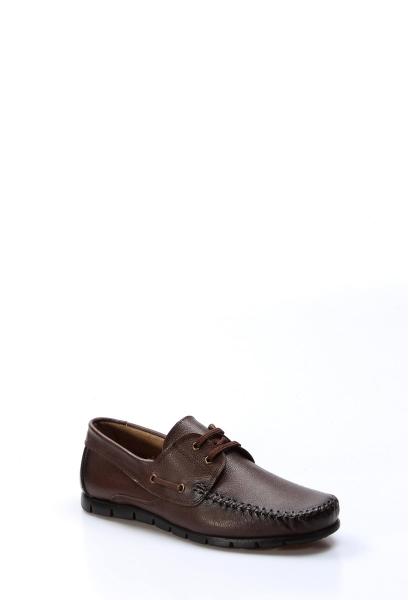 Ayakkabıhane İçi Dışı Hakiki Deri Kahve Erkek Loafer Babet Ayakkabı AH783MA101