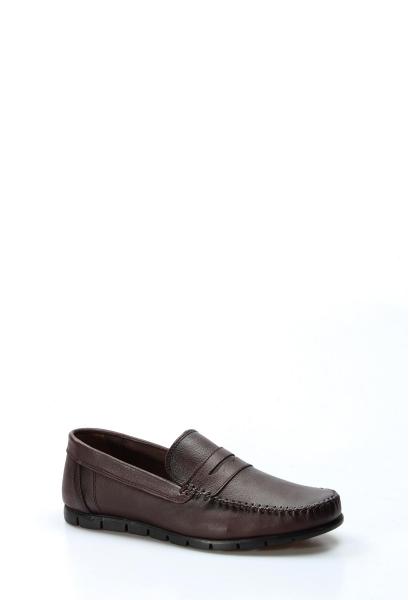Ayakkabıhane İçi Dışı Hakiki Deri Kahve Erkek Loafer Babet Ayakkabı AH783MA20