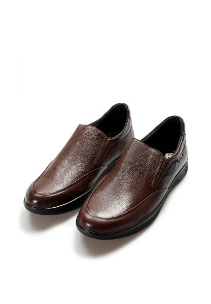 Ayakkabıhane İçi Dışı Kaliteli Hakiki Deri Kahve Erkek Casual Ayakkabı AH517MBA1002