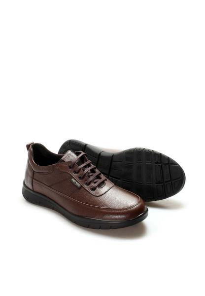 Ayakkabıhane İçi Dışı Kaliteli Hakiki Deri Kahve Erkek Casual Ayakkabı AH517MBA9375