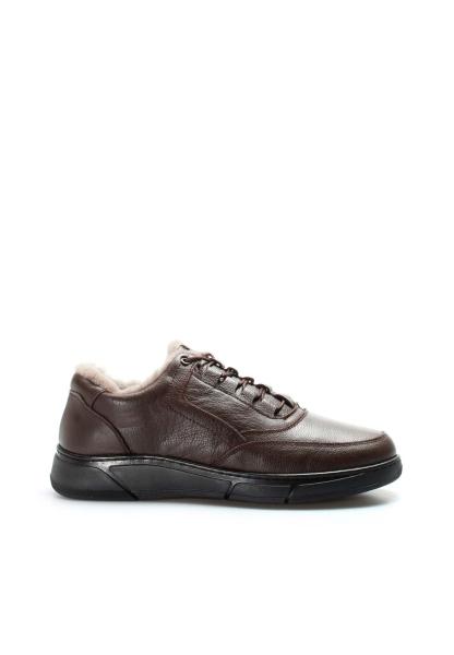 Ayakkabıhane Hakiki Deri Kürklü Kahve Erkek Spor Ayakkabı AH613KMA955