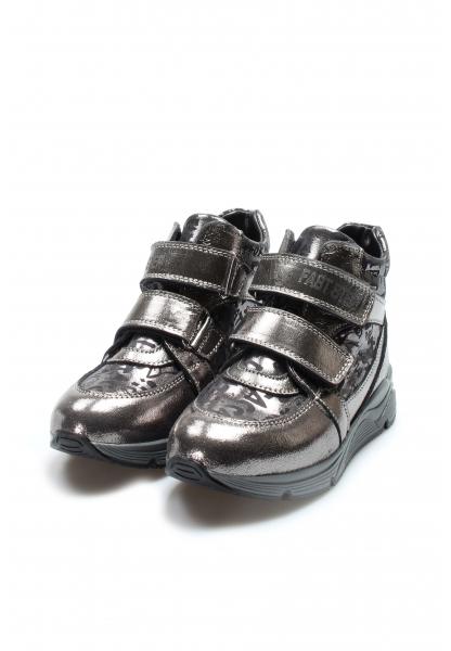 Ayakkabıhane İçi Kürklü Dışı Hakiki Deri Platin Unisex CırtCırtlı Çocuk Spor Bot AH612KXCA770