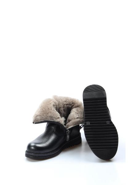 Ayakkabıhane İçi Kürklü Dışı Hakiki Deri Unisex Siyah Çift Fermuar Çocuk Klasik Bot AH770KPA202