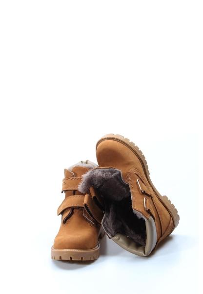 Ayakkabıhane İçi Kürklü Dışı Hakiki Nubuk Deri Unisex Taba Çocuk Worker Bot AH006KFA1001