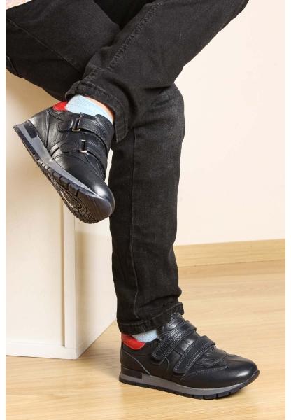 Ayakkabıhane Hakiki Deri Lacivert Kırmızı Erkek Çocuk Casual Ayakkabı AH006FA900