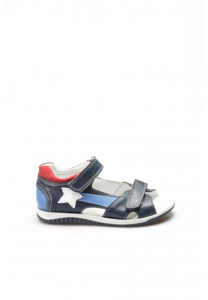 Ayakkabıhane Hakiki Deri Lacivert Unisex Çocuk Klasik Sandalet AH006FA700