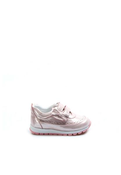 Ayakkabıhane Hakiki Deri Pudra Simli Kız Çocuk Sneaker Ayakkabı AH837BA03