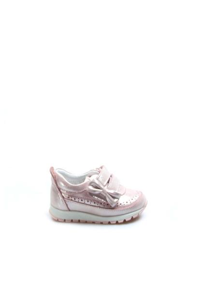 Ayakkabıhane Hakiki Deri Pudra Simli Kız Çocuk Sneaker Ayakkabı AH837IA03