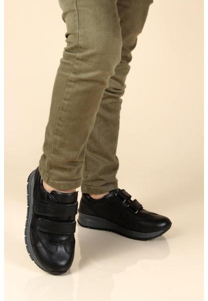 Ayakkabıhane Hakiki Deri Siyah Erkek Çocuk Casual Ayakkabı AH006FA900