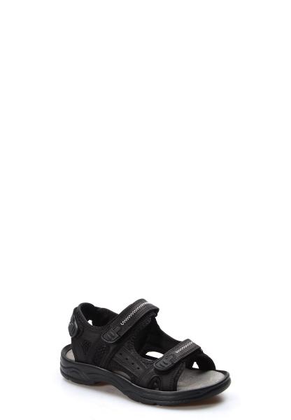 Ayakkabıhane Kaliteli Hakiki Deri Siyah Spor Erkek Sandalet AH907GA1517