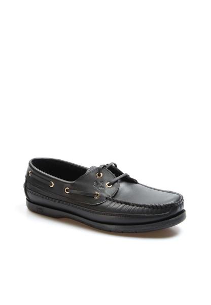 Ayakkabıhane Kaliteli Hakiki Deri Siyah Erkek Loafer Babet Ayakkabı AH628GADAXFAST