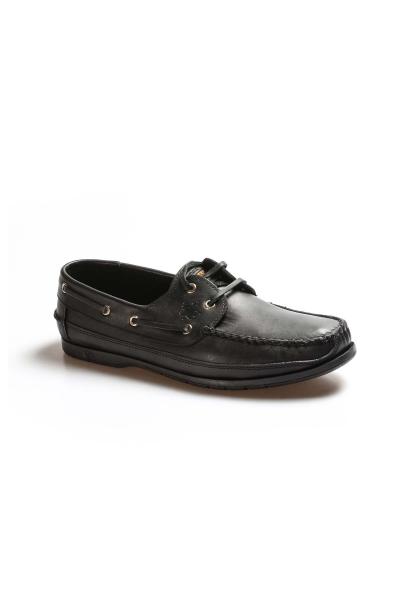 Ayakkabıhane Kaliteli Hakiki Deri Siyah Erkek Loafer Babet Ayakkabı AH628MBADAXFAST