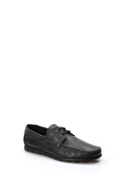 Ayakkabıhane İçi Dışı Hakiki Deri Siyah Erkek Loafer Babet Ayakkabı AH783MA101