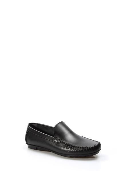 Ayakkabıhane İçi Dışı Hakiki Deri Siyah Erkek Loafer Babet Ayakkabı AH858MA400