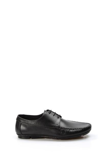 Ayakkabıhane İçi Dışı Hakiki Deri Siyah Erkek Loafer Babet Ayakkabı AH858MA405