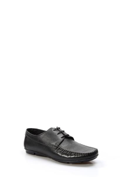 Ayakkabıhane İçi Dışı Hakiki Deri Siyah Erkek Loafer Babet Ayakkabı AH858MA406