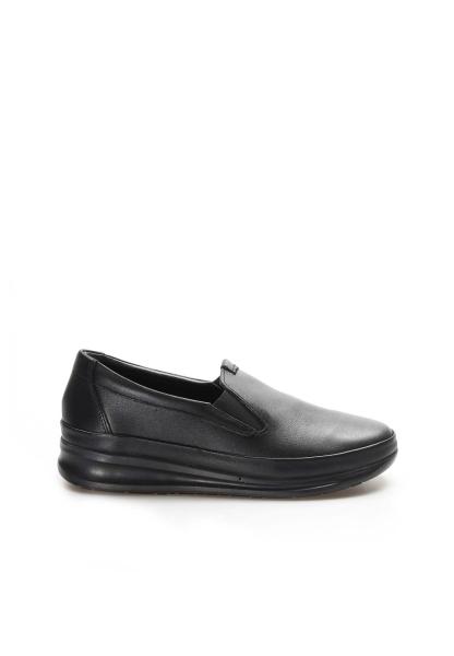 Ayakkabıhane İçi Dışı Hakiki Deri Siyah Kadın Rahat Casual Ayakkabı AH864ZA1201